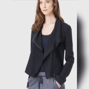 Vince M frayed textured full zip blazer jacket